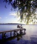 Picture by Tony Annis : bike on a pier