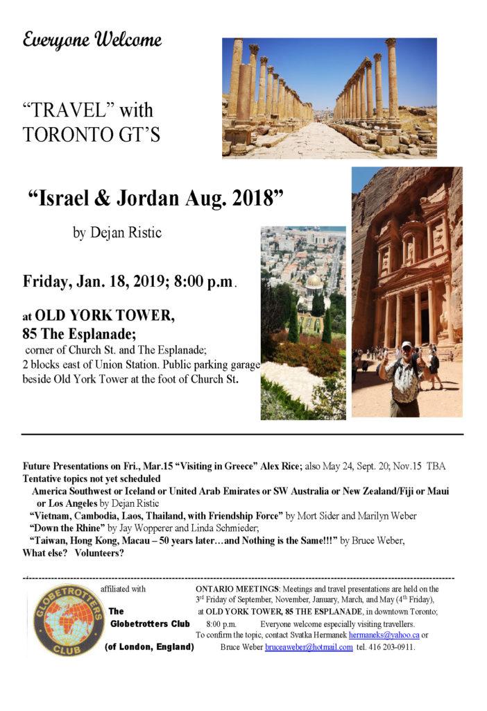 Toronto GTs poster - Jan 2019