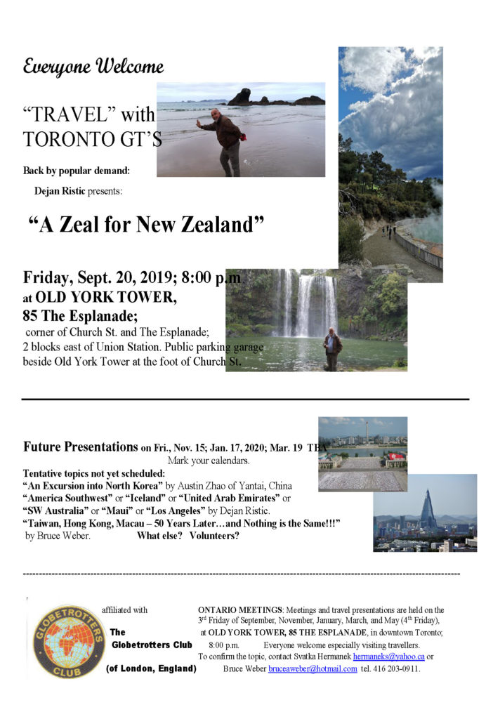 Toronto G.T.s 20190920 Zeal for New Zealand