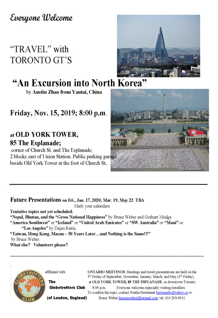 Toronto G.T.'s 20191115 North Korea